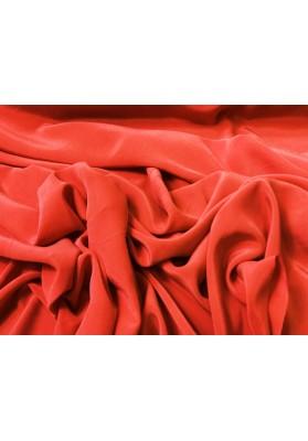 Krepa jedwabna cupro ceglana czerwień - 1