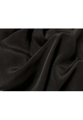 Krepa jedwabna podwójna czarna - 1