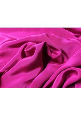 Krepa jedwabna podwójna intensywny róż - 1