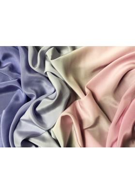 Krepa jedwabna ombre róż-fiolet - 1