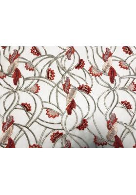 Tiul z koralikami czerwone liści - 1
