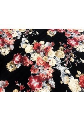 Pikówka kwiaty na czerni - 1