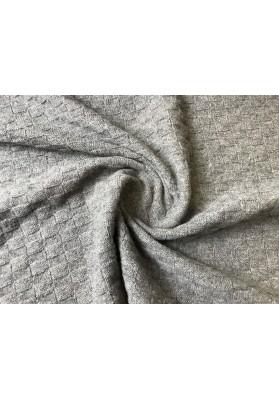 Dzianina swetrowa popiel - 0