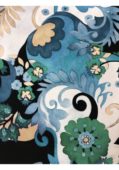 Satyna jedwabna ornament II wzór na matowej stronie - 2