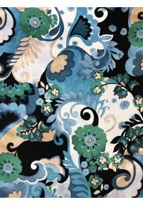 Satyna jedwabna ornament II wzór na matowej stronie - 1