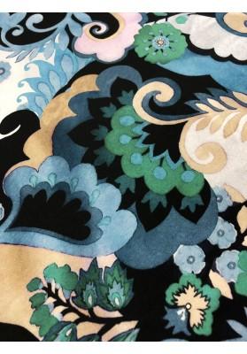 Satyna jedwabna ornament II wzór na matowej stronie - 3