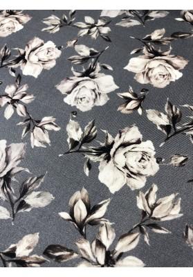 Wełna z jedwabiem i kaszmirem kwiaty na popielu - 2
