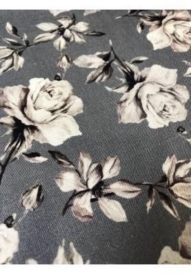 Wełna z jedwabiem i kaszmirem kwiaty na popielu - 3