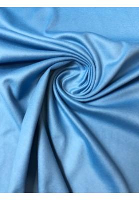 Wełna kaszmirowa płaszczowo-kostiumowa niebieska - 1
