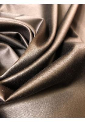 Wełna ubraniowa 100 's  double face brąz czekoladowy ciemny - 1