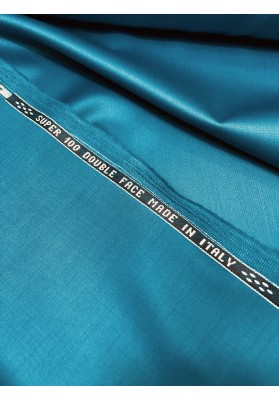 Wełna ubraniowa 100 's  double face niebieska - 4
