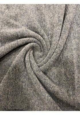 Dzianina swetrowa wełna z kaszmirem odcienie popielu i beżu - 1