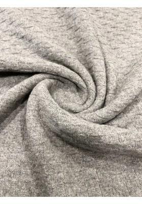 Dzianina swetrowa popiel - 1