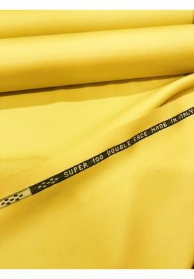Wełna ubraniowa 100 's  double face zółta - 1