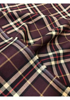 Wełna kostiumowa tartan na bordzie - 4
