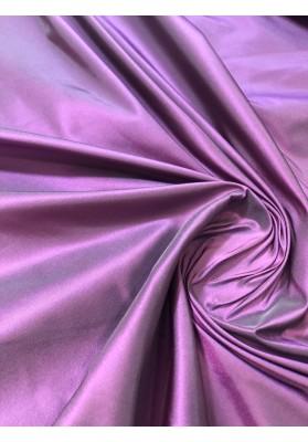 Tafta jedwabna dwuton fiolet z różem - 1