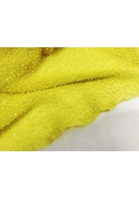 Jedwab z koralikami zółty - 0
