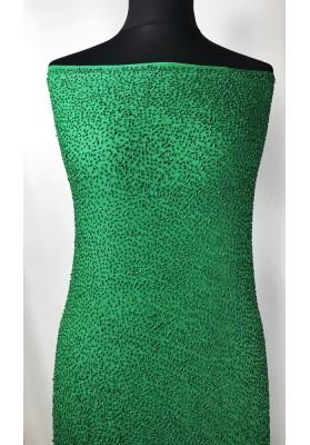 Jedwab z koralikami zieleń - 0