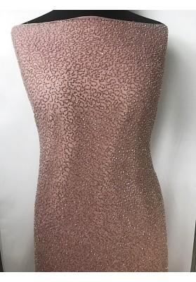 Jedwab z koralikami brudny róż - 0