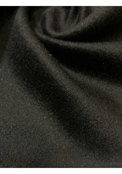 Wełna płaszczowa kaszmir czarna II - 3