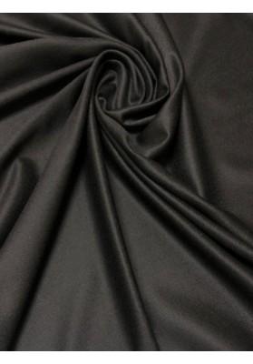 Wełna kaszmir cieńsza głęboka czerń - 1
