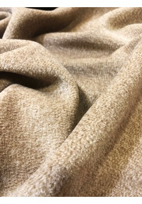 Wełna płaszczowa MM jasny beż melanż - 1