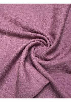 Tkanina wełniana strukturalna brudny róż - 1