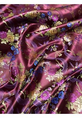 Żakard kwiaty na bordzie - 1