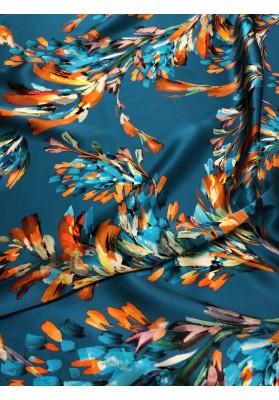 Satyna  jedwabna floresy na morskim - 1