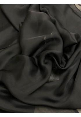 Muślin jedwabny czarny - 1