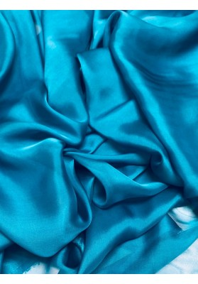 Muślin jedwabny niebieski - 1