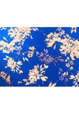 Bawełna mazaje na niebieskim tle - 0