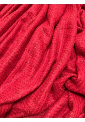 Chanelka czerwona ze metalizującą nitką - 1