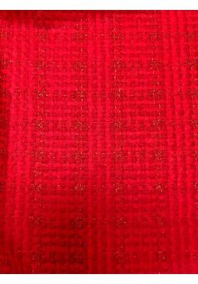 Chanelka czerwona ze metalizującą nitką - 2