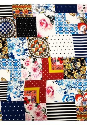 Satyna  jedwabna  patchwork II - 1