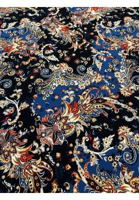 Dzianina kolorowe kwiaty i ornamenty I - 1