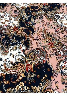 Dzianina kolorowe kwiaty i ornamenty III - 1