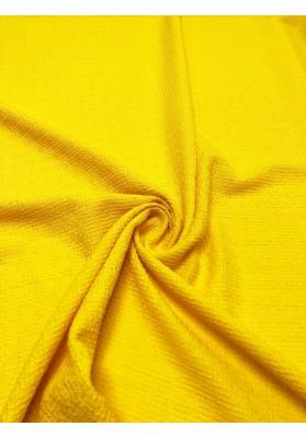 Tkanina wełniana strukturalna zółta - 2