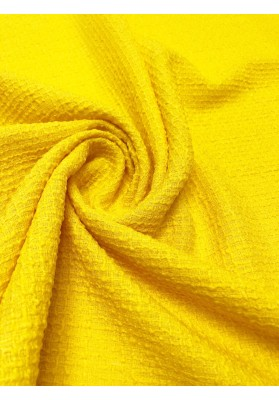 Tkanina wełniana strukturalna zółta - 1