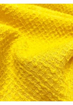 Tkanina wełniana strukturalna zółta - 5