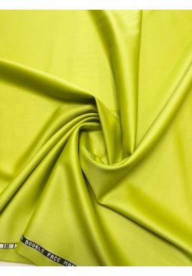 Wełna ubraniowa  double satin charmelaine premium zieleń neon - 1