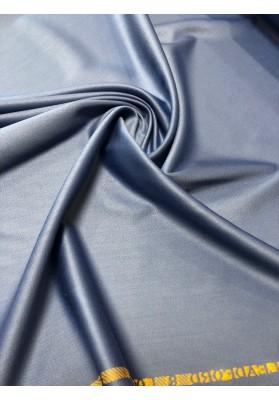 Wełna ubraniowa  double satin charmelaine premium niebieski dżinsowy - 1