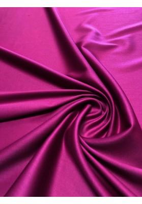 Wełna ubraniowa  double satin charmelaine fiolet biskupi premium - 1